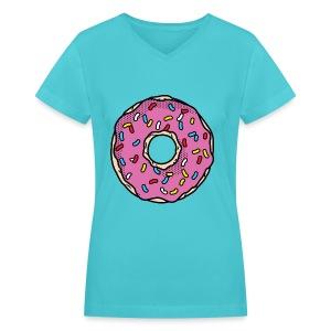 donut - Women's V-Neck T-Shirt