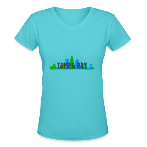 Tampa FS Dark - Women's V-Neck T-Shirt