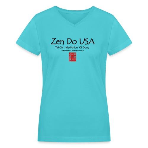 Zen Do USA - Women's V-Neck T-Shirt