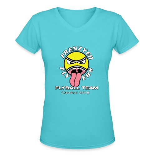 Frenzyed Flyers - Women's V-Neck T-Shirt