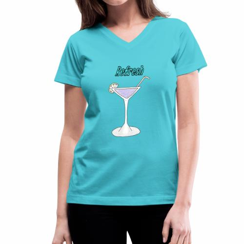 A cocktail glass - Women's V-Neck T-Shirt