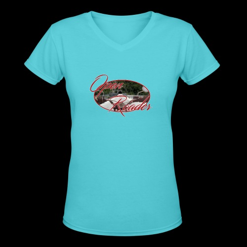 Open Roader Tunnel on back - Women's V-Neck T-Shirt