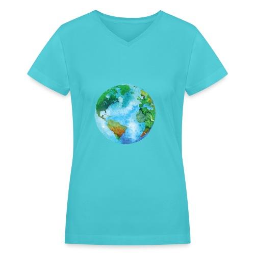 earth - Women's V-Neck T-Shirt