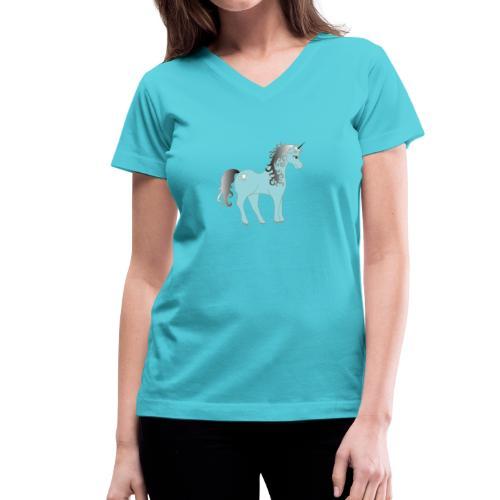 Unicorn - Women's V-Neck T-Shirt