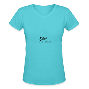 Slick Clothing - Women's V-Neck T-Shirt
