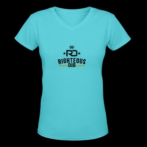 Righteous Dub Logo - Women's V-Neck T-Shirt