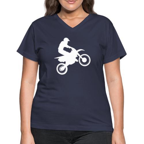 Motocross - Women's V-Neck T-Shirt