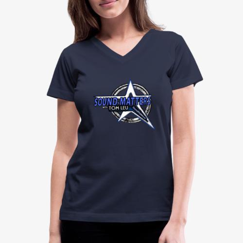 SOUND MATTERS Badge - Women's V-Neck T-Shirt