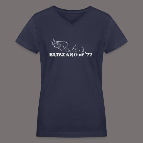 Blizzard of 77 - Women's V-Neck T-Shirt