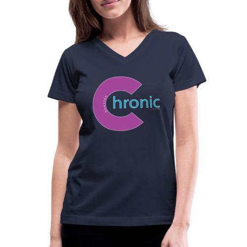 Houston Chronic - Purp C - Women's V-Neck T-Shirt