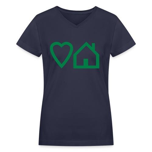 ts-3-love-house-music - Women's V-Neck T-Shirt