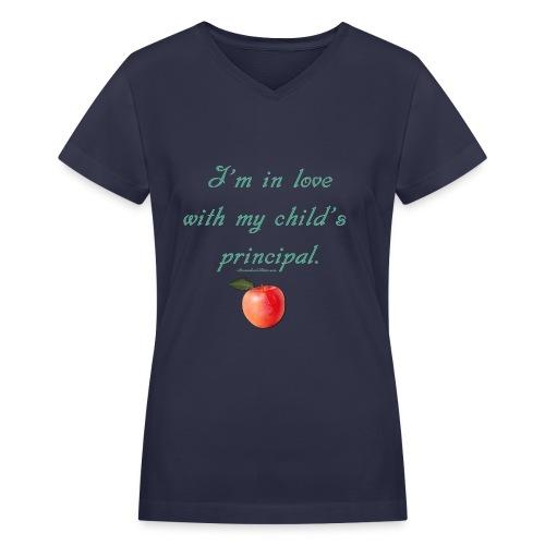 Love Principal - Mom - Women's V-Neck T-Shirt