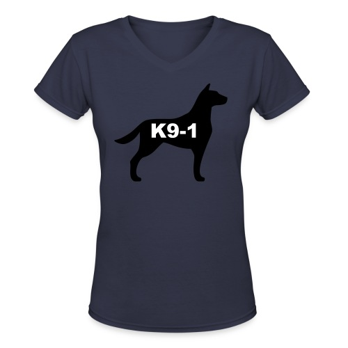 k9-1 Logo Large - Women's V-Neck T-Shirt