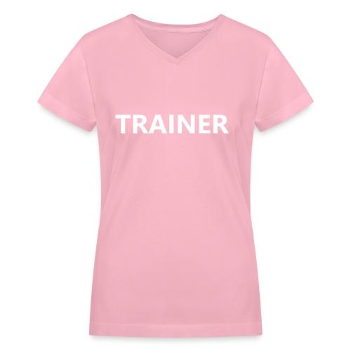 Trainer - Women's V-Neck T-Shirt