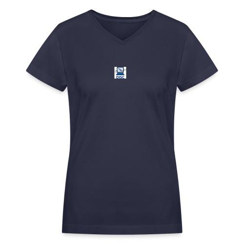 LogoColorTextBelow Email jpg - Women's V-Neck T-Shirt