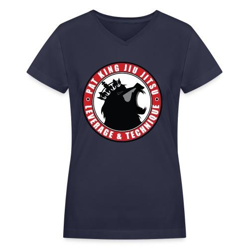 PK Merch grey22 - Women's V-Neck T-Shirt