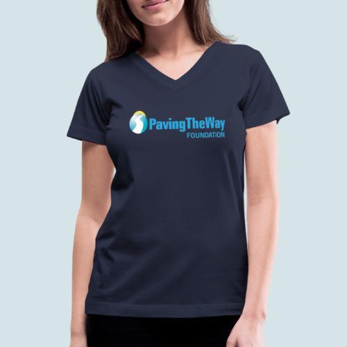 PTWF logo - Women's V-Neck T-Shirt
