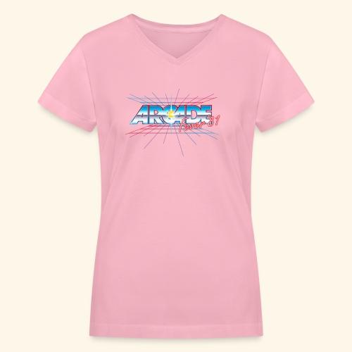 arcade fever 81 motiv2 - Women's V-Neck T-Shirt