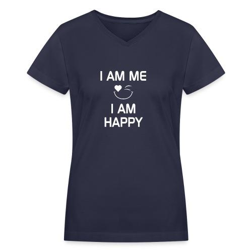 IAmMeIAmHappy - Women's V-Neck T-Shirt