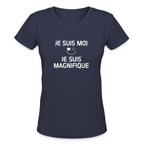 JeSuisMoiJeSuisMagnifique - Women's V-Neck T-Shirt