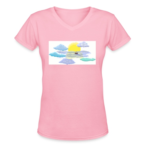 Sea of Clouds - Women's V-Neck T-Shirt