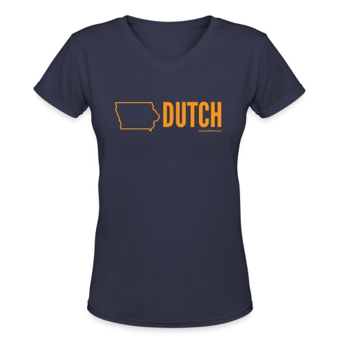 Iowa Dutch (orange) - Women's V-Neck T-Shirt