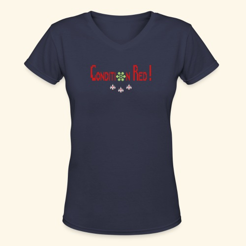 condition_red_3 - Women's V-Neck T-Shirt