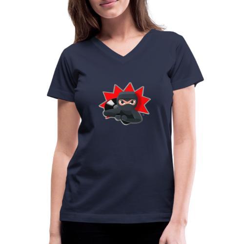 MERACHKA ICON LOGO - Women's V-Neck T-Shirt