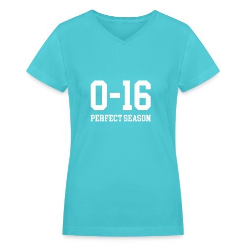 Detroit Lions 0 16 Perfect Season - Women's V-Neck T-Shirt
