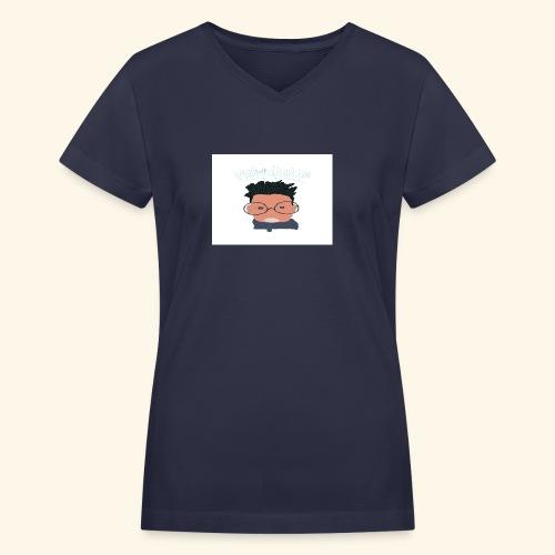 weiweigang logo edit - Women's V-Neck T-Shirt