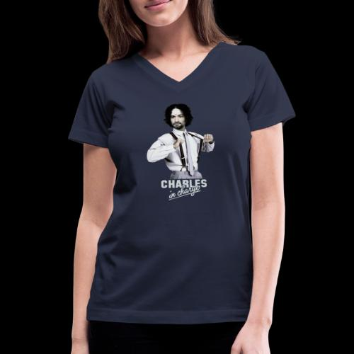 CHARLEY IN CHARGE - Women's V-Neck T-Shirt