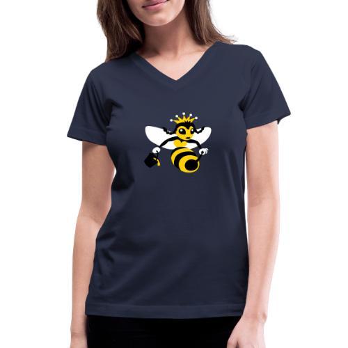 Queen Bee - Women's V-Neck T-Shirt