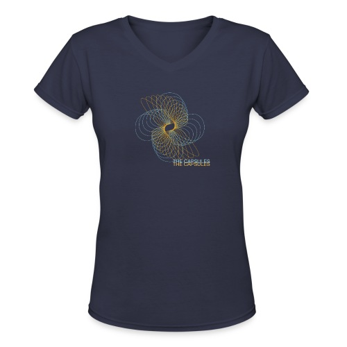 The Capsules - Spiral - Women's V-Neck T-Shirt
