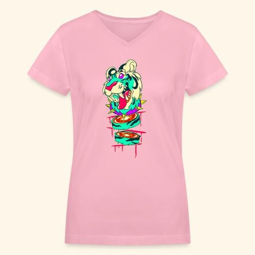 - Decaptiger - - Women's V-Neck T-Shirt