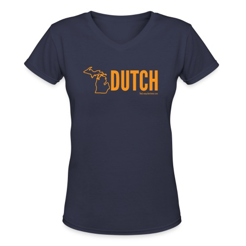 Michigan Dutch (orange) - Women's V-Neck T-Shirt