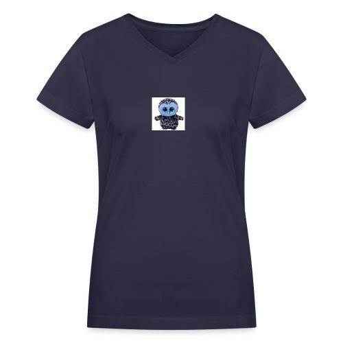 blue_hootie - Women's V-Neck T-Shirt