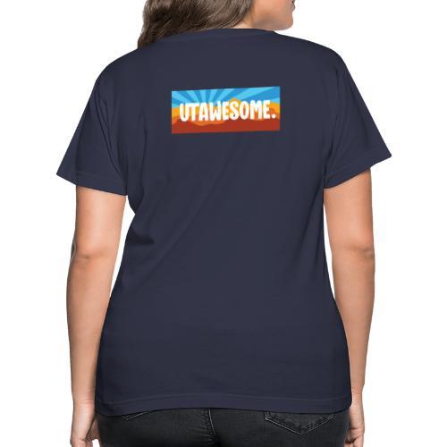 UTAWESOME Mural - Women's V-Neck T-Shirt