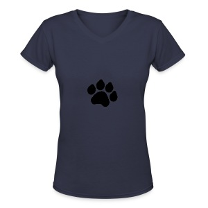 Black Paw Stuff - Women's V-Neck T-Shirt