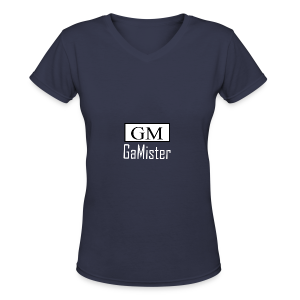 gamister_shirt_design_1_back - Women's V-Neck T-Shirt