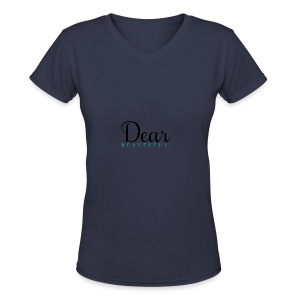 Dear Beautiful Campaign - Women's V-Neck T-Shirt