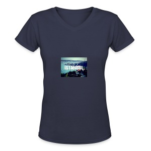 Istanbul Lovers - Women's V-Neck T-Shirt
