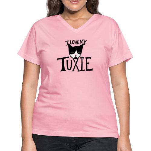 I love my tuxedo cat - Women's V-Neck T-Shirt