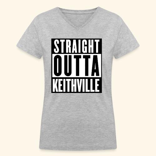 STRAIGHT OUTTA KEITHVILLE - Women's V-Neck T-Shirt