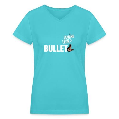 bullletgray2 - Women's V-Neck T-Shirt