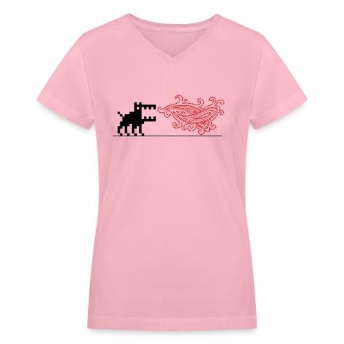 dottweiler spitfire03 - Women's V-Neck T-Shirt
