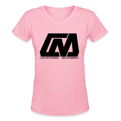 Cali Move Front black women - Women's V-Neck T-Shirt