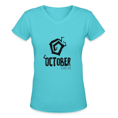 October Duncan2 01 png - Women's V-Neck T-Shirt