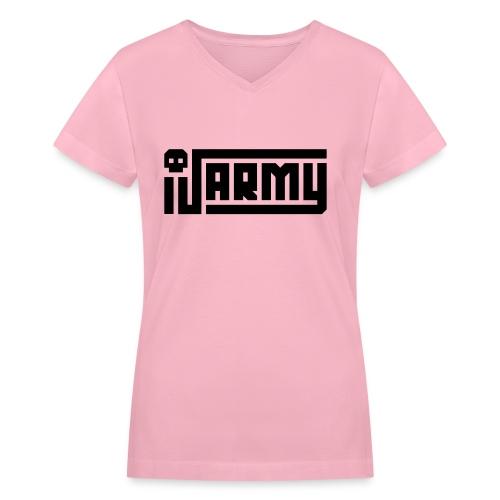 iJustine - iJ Army Logo - Women's V-Neck T-Shirt
