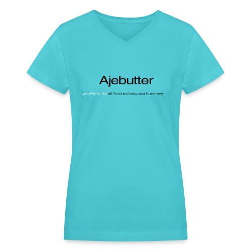 ajebutter - Women's V-Neck T-Shirt