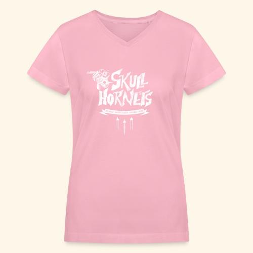 skull hornets - Women's V-Neck T-Shirt